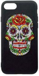 Mobilnet gumové pouzdro pro iPhone 7/8 lebka, černá