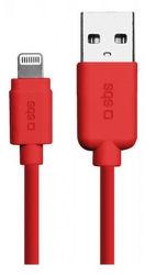 SBS Lightning kabel 1m, červená