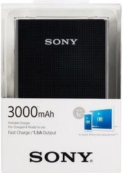 Sony CP-E3B2 powerbanka 3000 mAh, černá