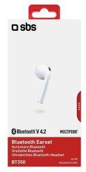 SBS Bluetooth Mono Headset bílý