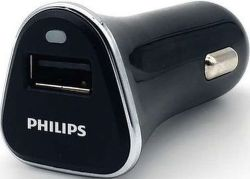Philips DLP2359/10 černá, USB autonabíječka