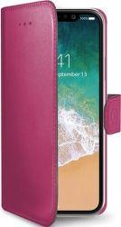 Celly Wally knížkové pouzdro pro iPhone X, růžová