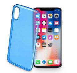 Cellular Line Fine gelové pouzdro pro iPhone X, modrá