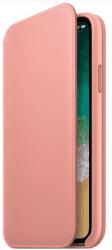Apple kožené pouzdro Folio pro iPhone X, bledě růžové
