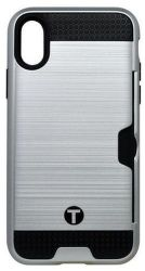 Mobilnet plastové pouzdro pro iPhone X, stříbrné