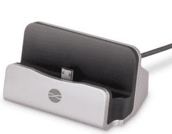 Forever DS01 dokovací stanice microUSB, stříbrná