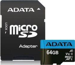 ADATA Premier microSDXC 64GB 85MB/s UHS-I U1 + adaptér