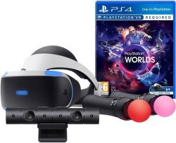 Sony PlayStation VR headset + Kamera v2 + Move Twin Pack + VR Worlds
