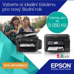 Cashback až 1 050 Kč na vybrané tiskárny Epson