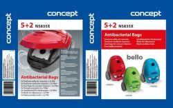 Concept NS835x sáčky do vysavače (5+2ks)