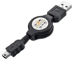Mobilnet miniUSB kabel 1m, černá