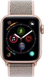 Apple Watch Series 4 40mm zlatý hliník/růžový sportovní provlékací řemínek