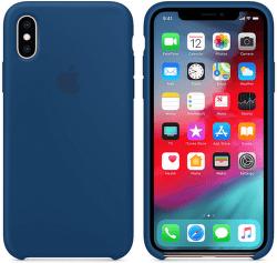 Apple silikonový kryt pro iPhone XS Max, podvečerně modrý