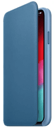 Apple kožené pouzdro Folio pro Apple iPhone XS Max, modrošedá