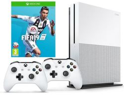Microsoft Xbox One S 1TB + bezdrátový ovladač + FIFA 19