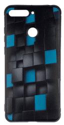 Winner 3D Cubes pouzdro pro Huawei Y6 Prime 2018, černé