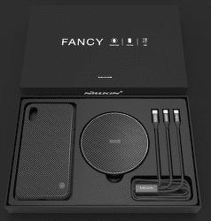 Nillkin Fancy set pro iPhone X, černá