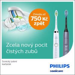 Cashback až 750 Kč na zubní kartáčky Philips Sonicare