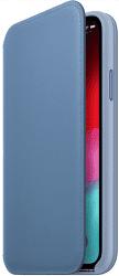 Apple kožené pouzdro Folio pro Apple iPhone Xs, modré