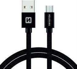 Swissten datový kabel Micro USB 1,2 m černý