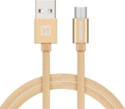 Swissten datový kabel Micro USB 1,2 m zlatý