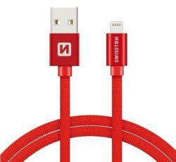 Swissten datový kabel Lightning 1,2 m červený