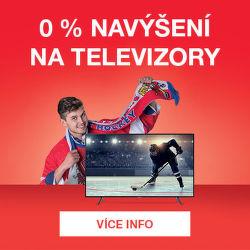 0% navýšení na televizory