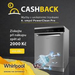 Cashback až 2 000 Kč na myčky Whirlpool