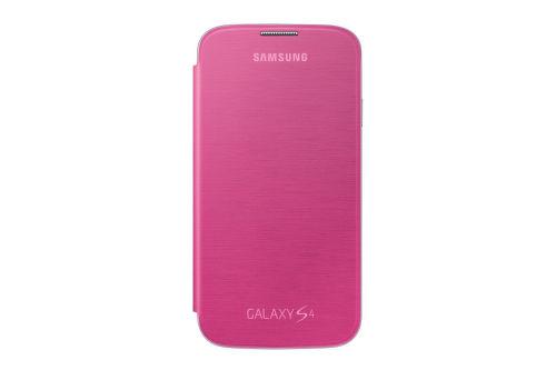 SAMSUNG flipové púzdro EF-FI950BP pre Galaxy S4 (i9505), ružové