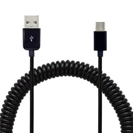 Mobilnet USB-C kabel 2A 40-240 cm zakroucený, černá