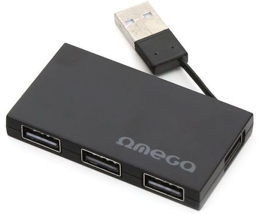 OMEGA 4 PORT BLK, USB Hub