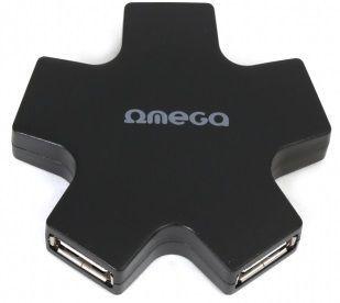 OMEGA 4 PORT STAR BLK, USB Hub