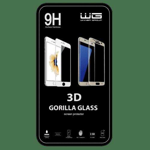 Winner ochranné tvrzené sklo 3D iPhone 7, černé