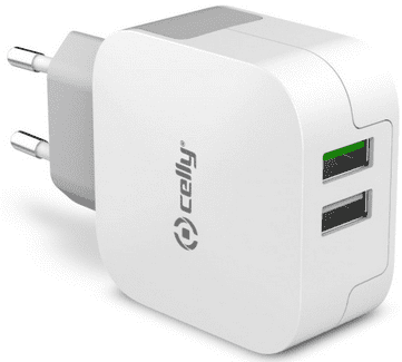 CELLY TC2USBTURBO, Nabíjačka 2x USB 3.4