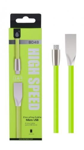 Plus N8048 MicroUSB datový kabel 1m, zelená