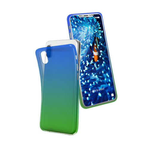 SBS Cool pouzdro pro Apple iPhone X a Xs, zelená/modrá