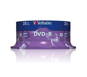 VERBATIM 25DVD+R4,7 GB 16xcake pack