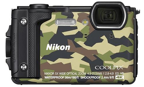 Nikon Coolpix W300, kamufláž + plovoucí popruh