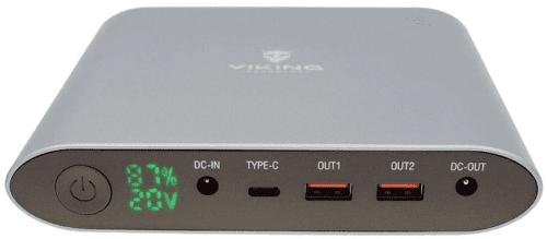 Viking Smartech III notebooková powerbanka 25 000 mAh QC 3.0, šedá