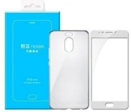 Meizu Protective ochranné pouzdro pro Meizu M6 Note, bílá + fólie