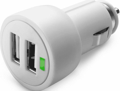 CellularLine Dual Ultra 2x USB nabíječka 15W, bílá