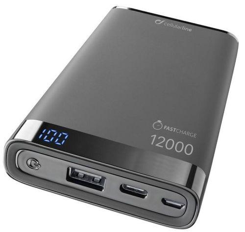 CellularLine Freepower Manta S 12 000 mAh powerbanka, černá