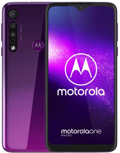 Motorola One Macro fialový