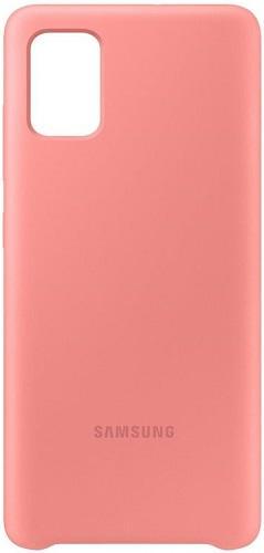 Samsung Silicone Cover pro Samsung Galaxy A71, růžová