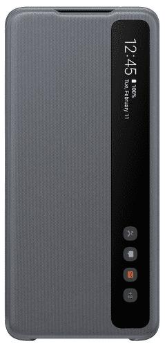 Samsung Clear View Cover pouzdro pro Samsung Galaxy S20 Ultra, šedá