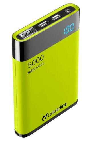 CellularLine FreePower Manta HD powerbanka 5000 mAh, zelená