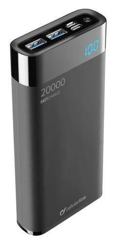 CellularLine FreePower Manta HD powerbanka 20000 mAh, černá