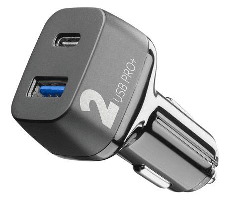 CellularLine Multipower Pro+ autonabíječka USB-A+USB-C 36W, černá