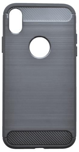 Mobilnet Simple gumové pouzdro pro Apple iPhone X a Xs, černá