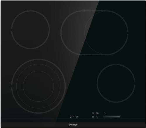 GORENJE ECS646BCSC, černá sklokeramická varná deska